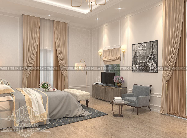 biệt thự 2 tầng kiểu châu âu phòng ngủ master