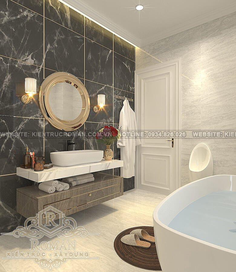 biệt thự 2 tầng kiểu châu âu nhà tắm master