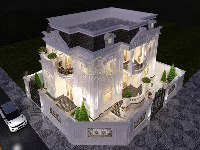 Thiết kế biệt thự 2 tầng kiểu châu âu sang trọng tại Kiên Giang