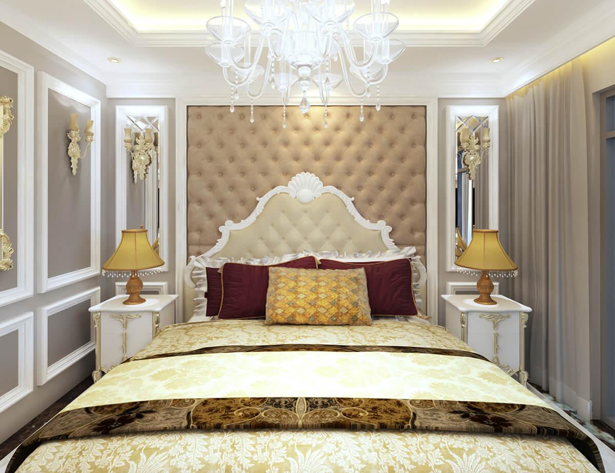 biệt thự 2 tầng mái thái phòng ngủ master