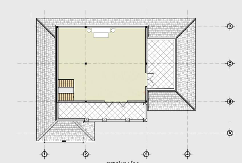 biệt thự 2 tầng mái thái chữ I