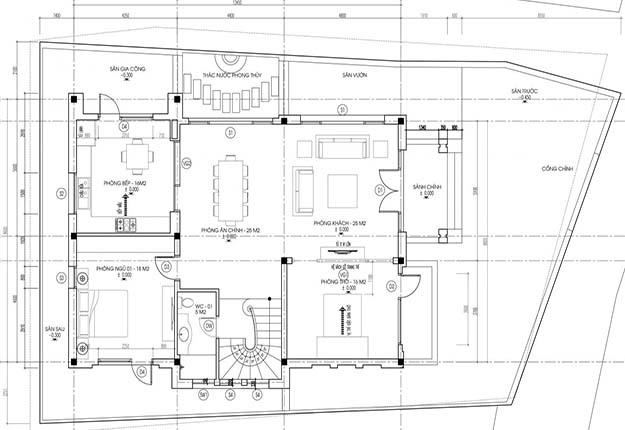 biệt thự 2 tầng mái thái hiện đại đẹp 3