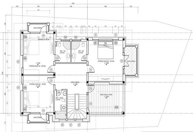 biệt thự 2 tầng mái thái hiện đại đẹp 4