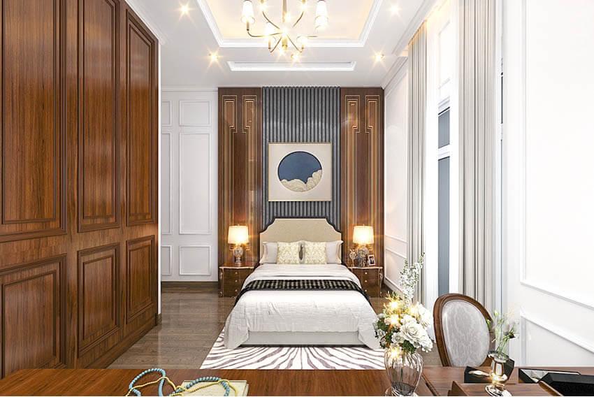biệt thự 2 tầng mái thái tân cổ điển phòng ngủ