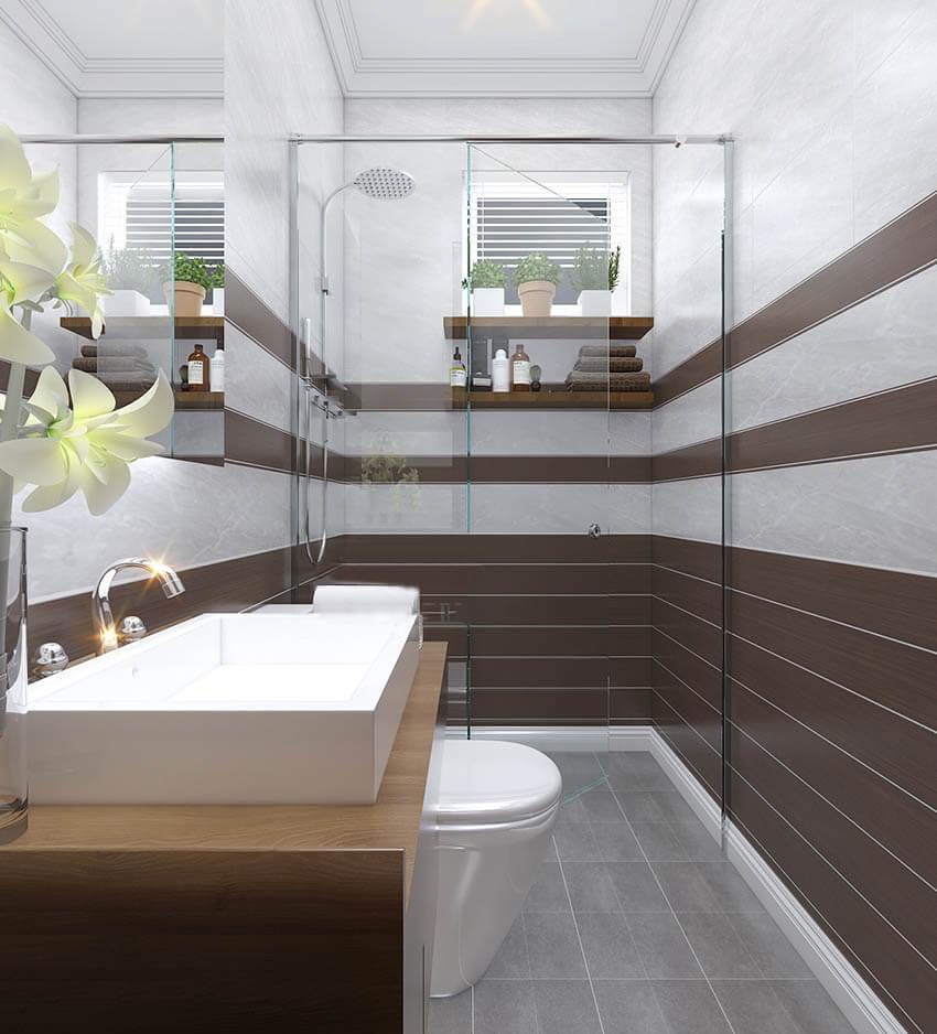 biệt thự 2 tầng mái thái tân cổ điển phòng tắm