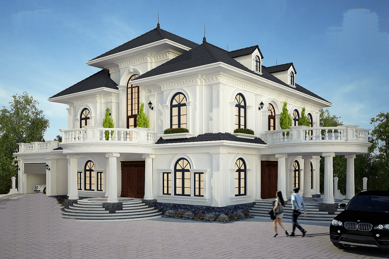 biệt thự 2 tầng mặt tiền 18m tân cổ điển 3