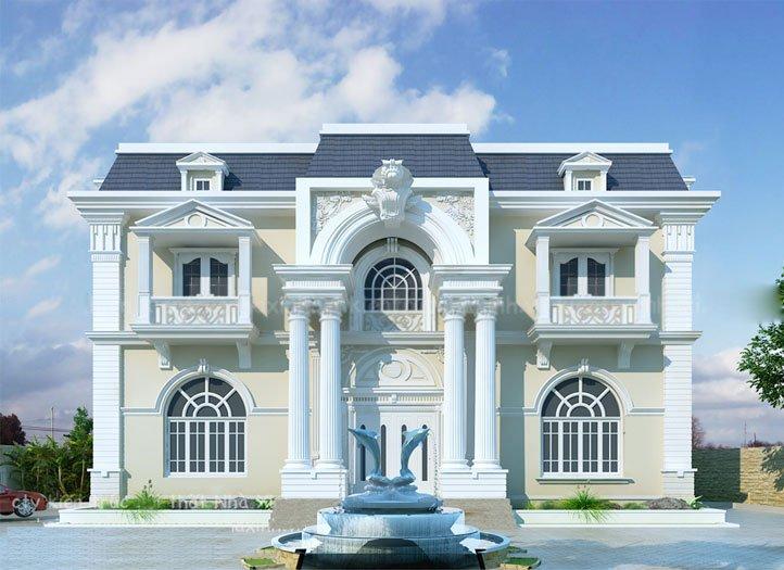 biệt thự 2 tầng phong cách tân cổ điển 2
