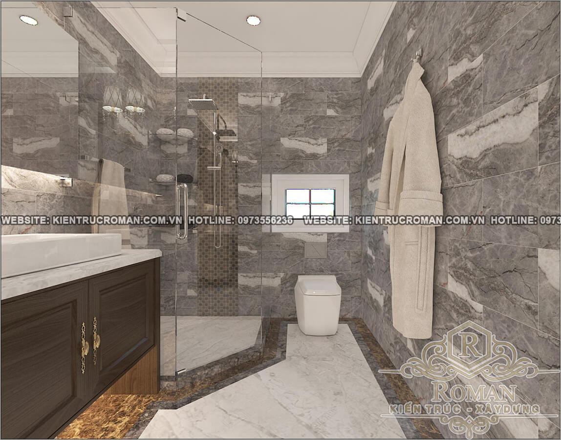 phòng tắm biệt thự 2 tầng tân cổ điển