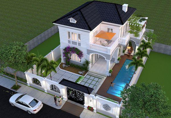mẫu thiết kế biệt thự 2 tầng tân cổ điển hot nhất 6