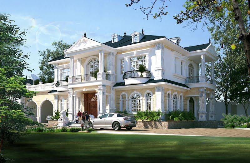 mẫu thiết kế biệt thự 2 tầng tân cổ điển hot nhất 8