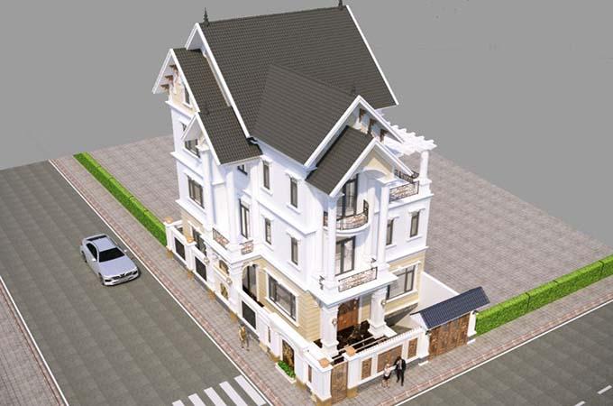 mẫu biệt thự 3 tầng 10x13m đẹp 4