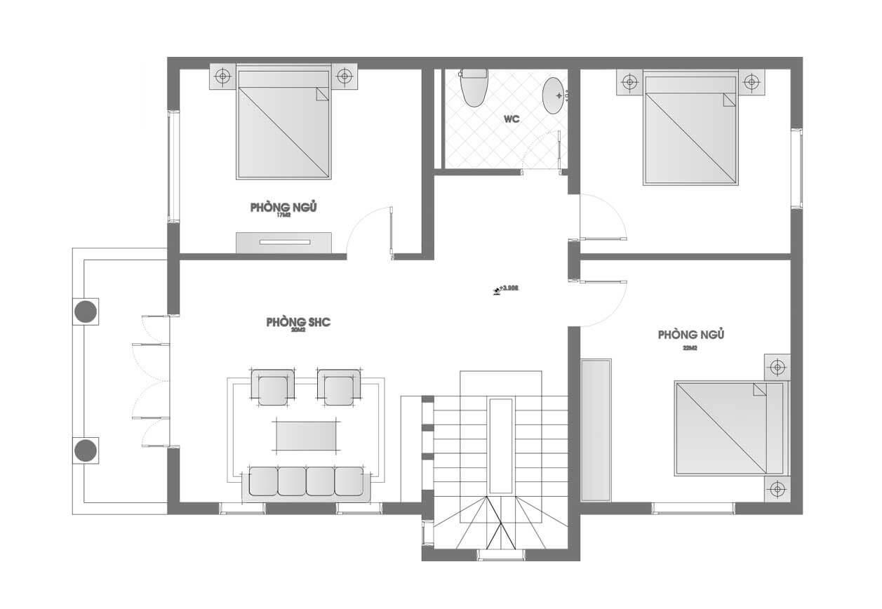 biệt thự 3 tầng 10x18 5