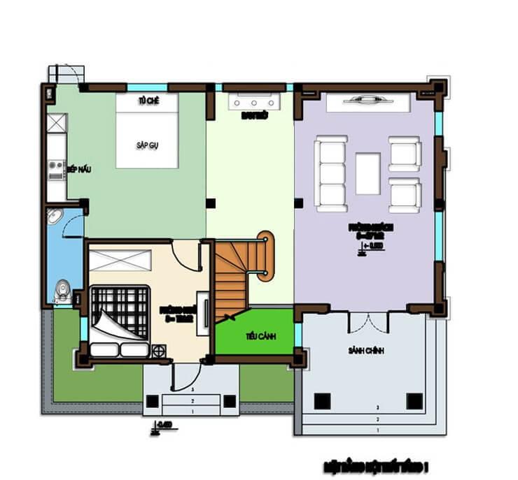 biệt thự 3 tầng 10x20m