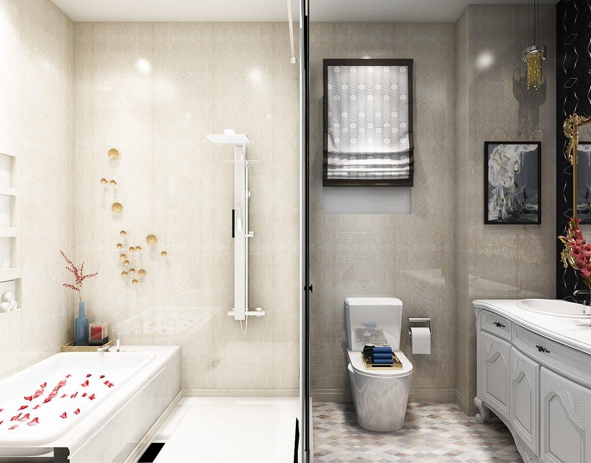 biệt thự 3 tầng 11x13m phòng tắm