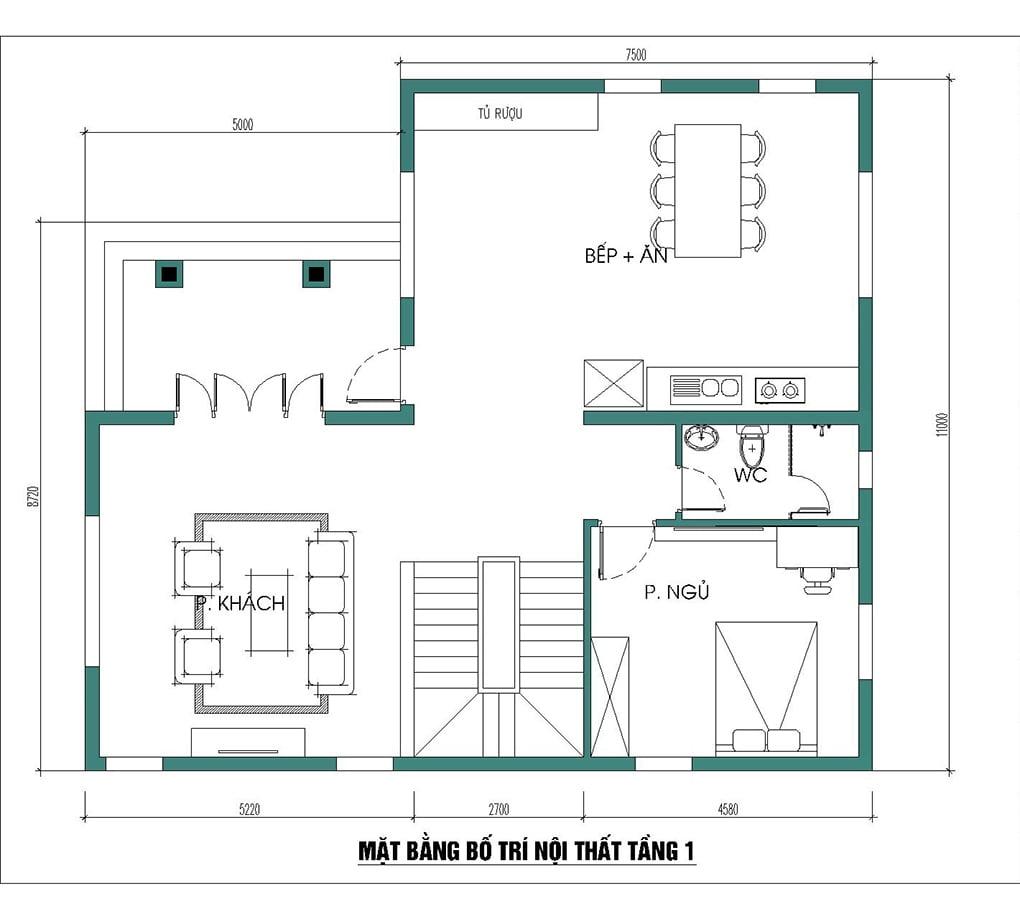 biệt thự 3 tầng 11x13m