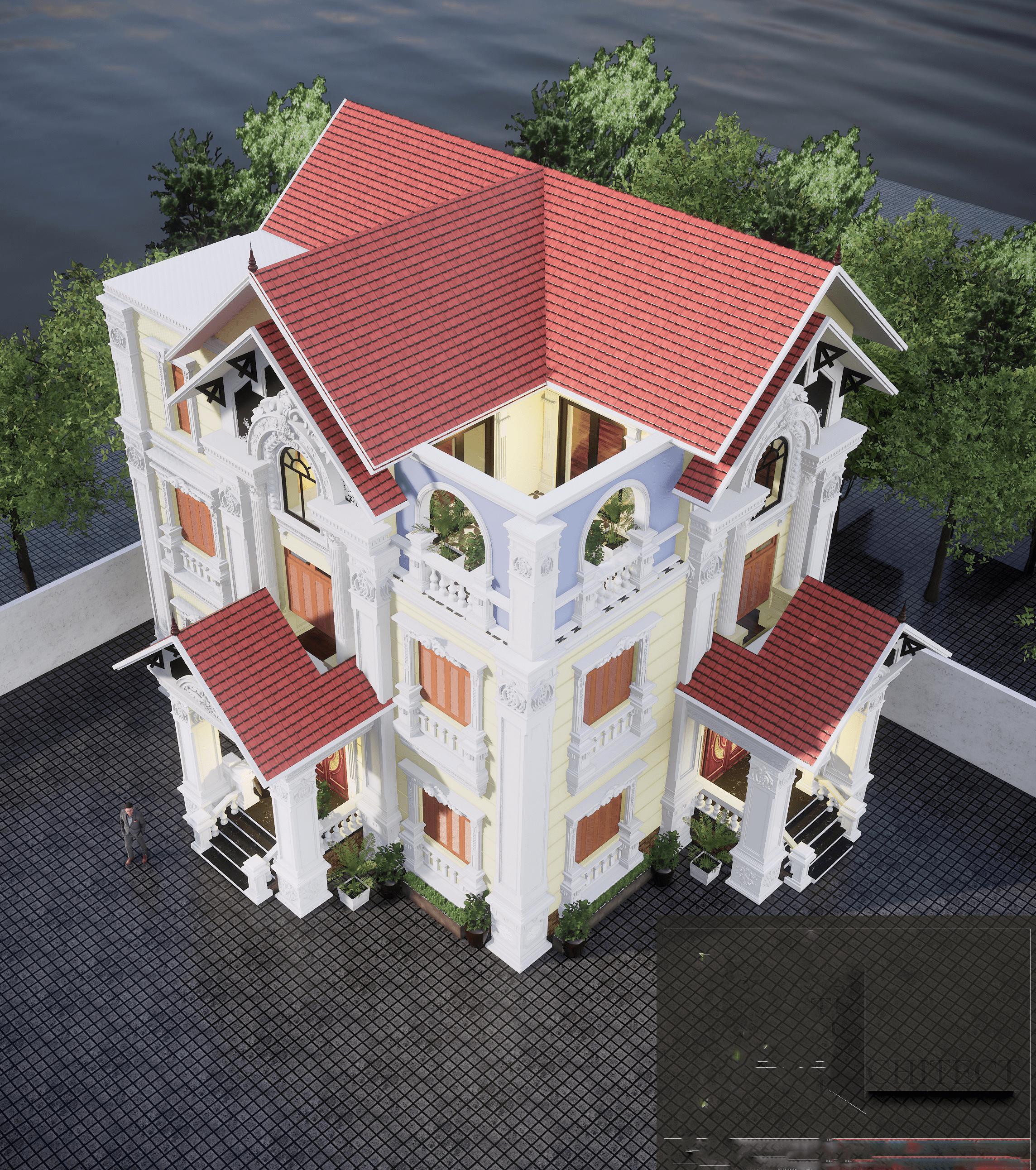 biệt thự 3 tầng 11x14m phong cách cổ điển 3