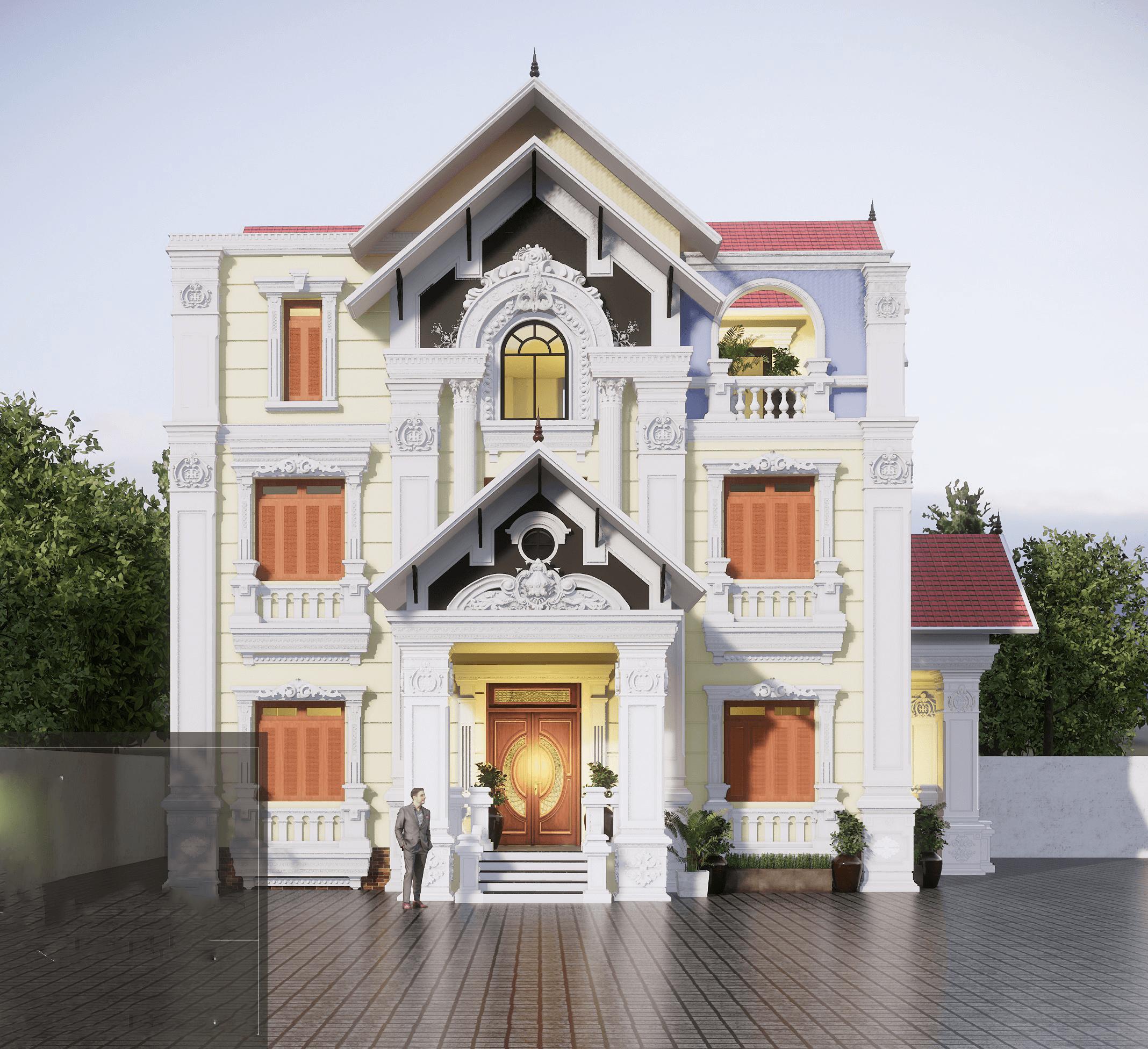 biệt thự 3 tầng 11x14m phong cách cổ điển 4