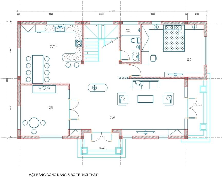 biệt thự 3 tầng 130m2 tân cổ điển đẹp 3