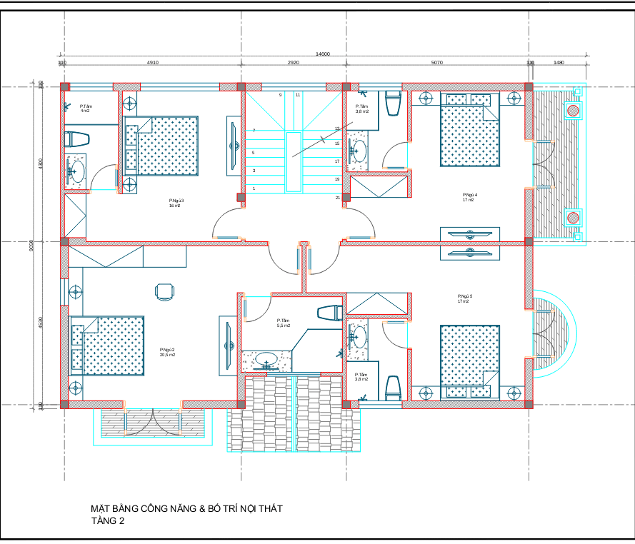 biệt thự 3 tầng 130m2 tân cổ điển đẹp 4