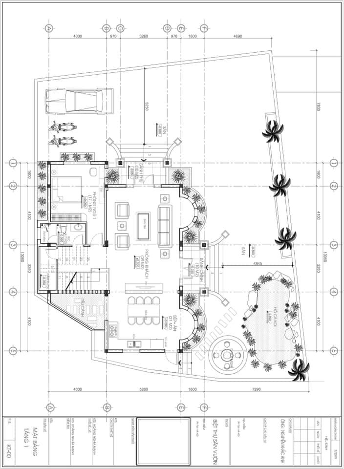 thiết kế biệt thự 3 tầng 140m2 tân cổ điển đẹp 3