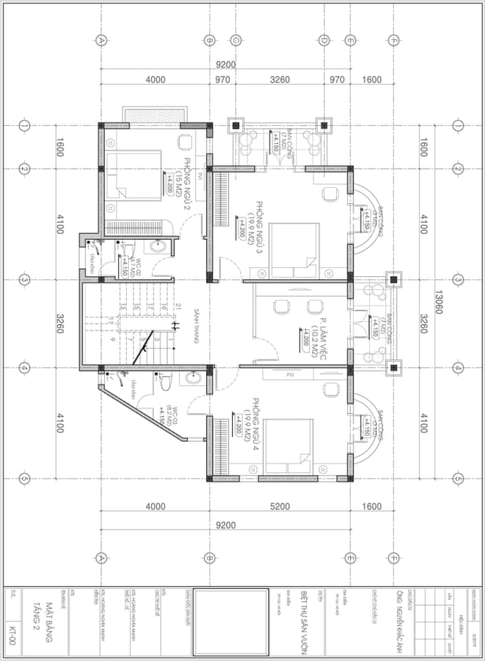 thiết kế biệt thự 3 tầng 140m2 tân cổ điển đẹp 4