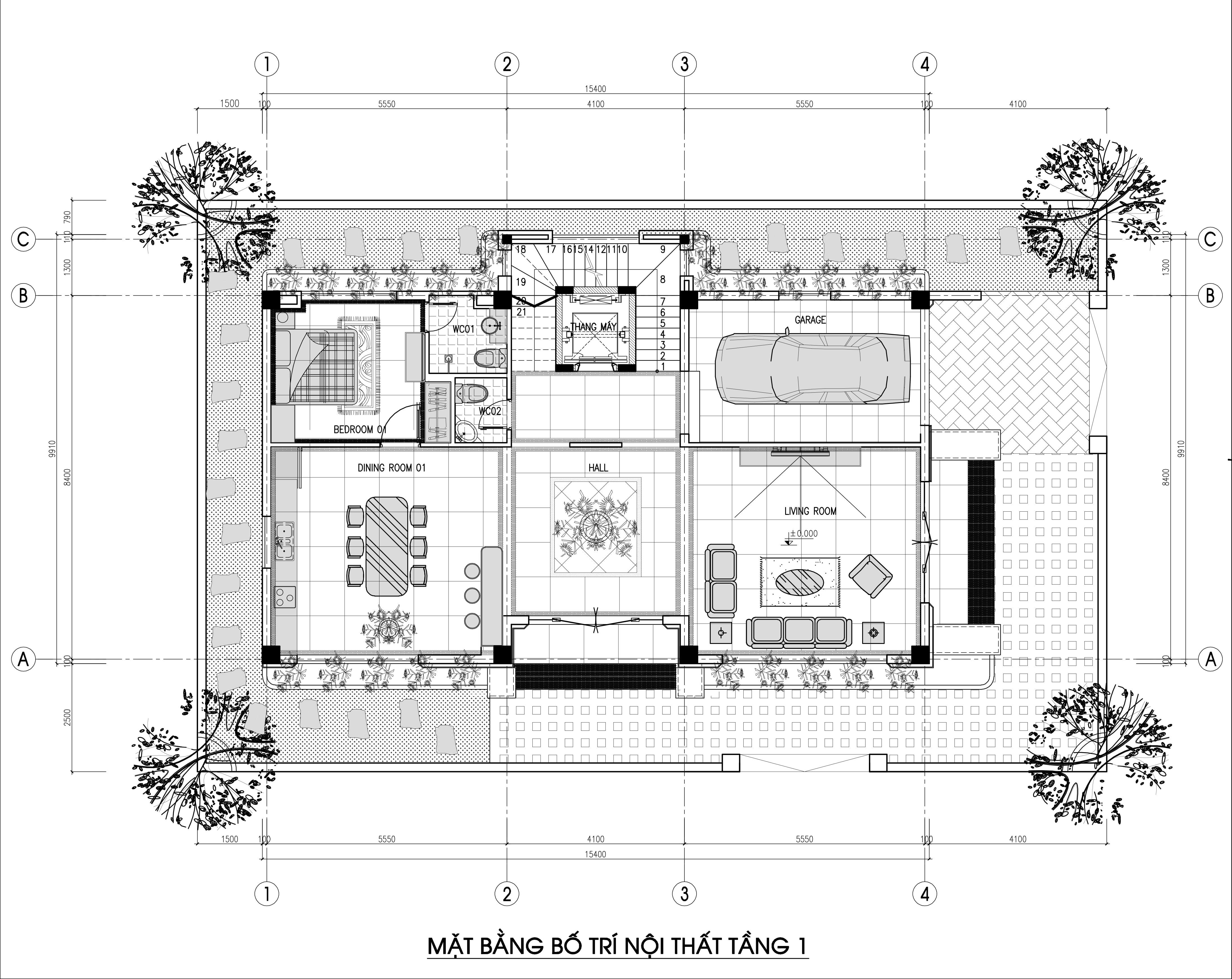 biệt thự 3 tầng 150m2 hiện đại đẹp 3