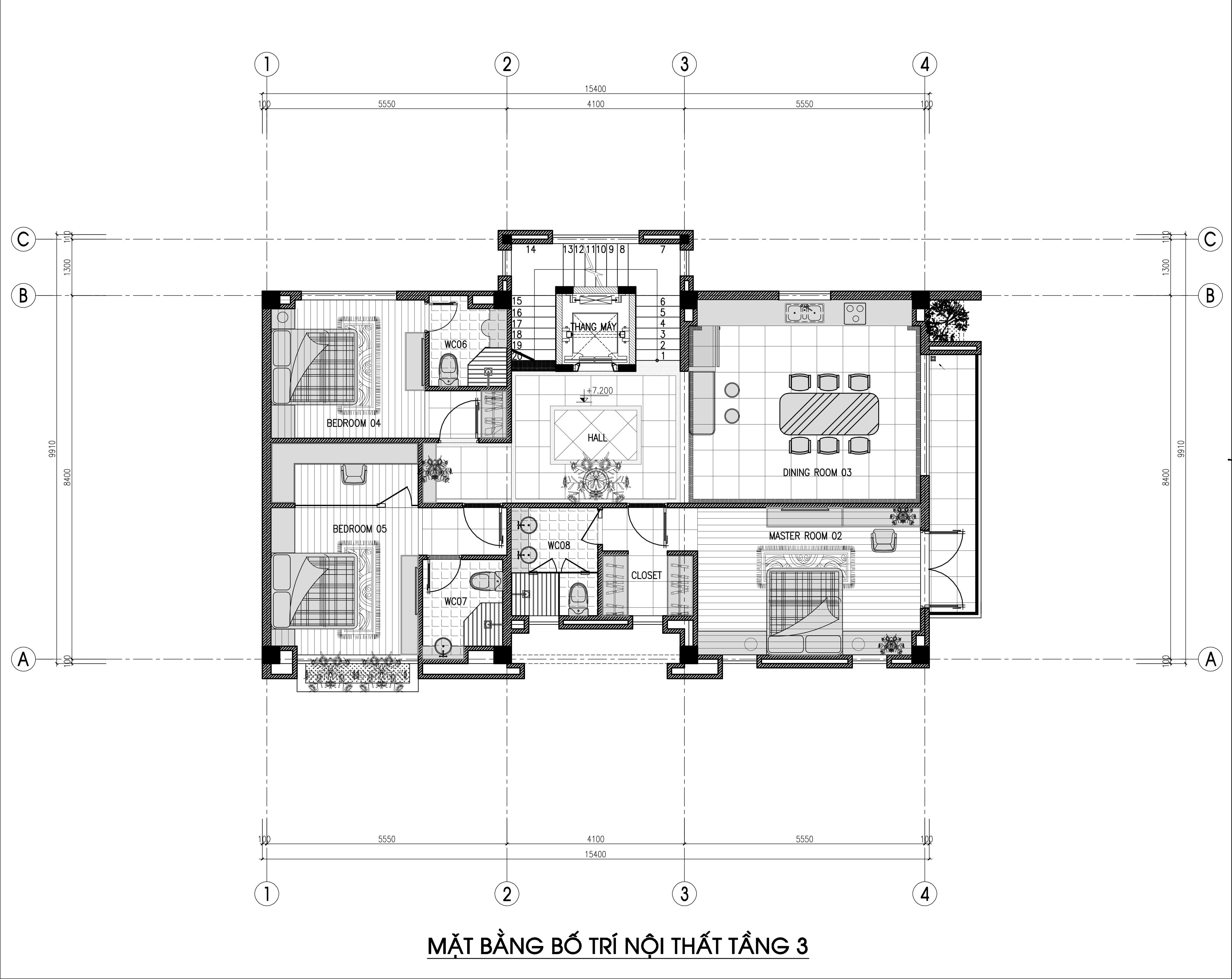 biệt thự 3 tầng 150m2 hiện đại đẹp 5