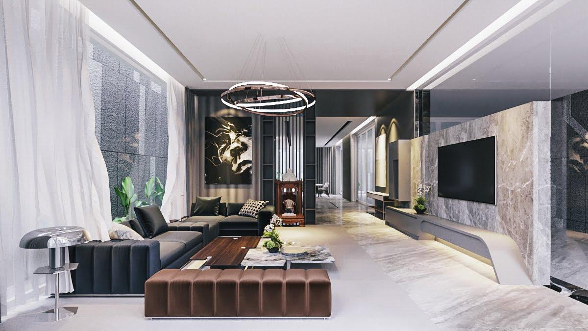 biệt thự 3 tầng 150m2 hiện đại đẹp 8