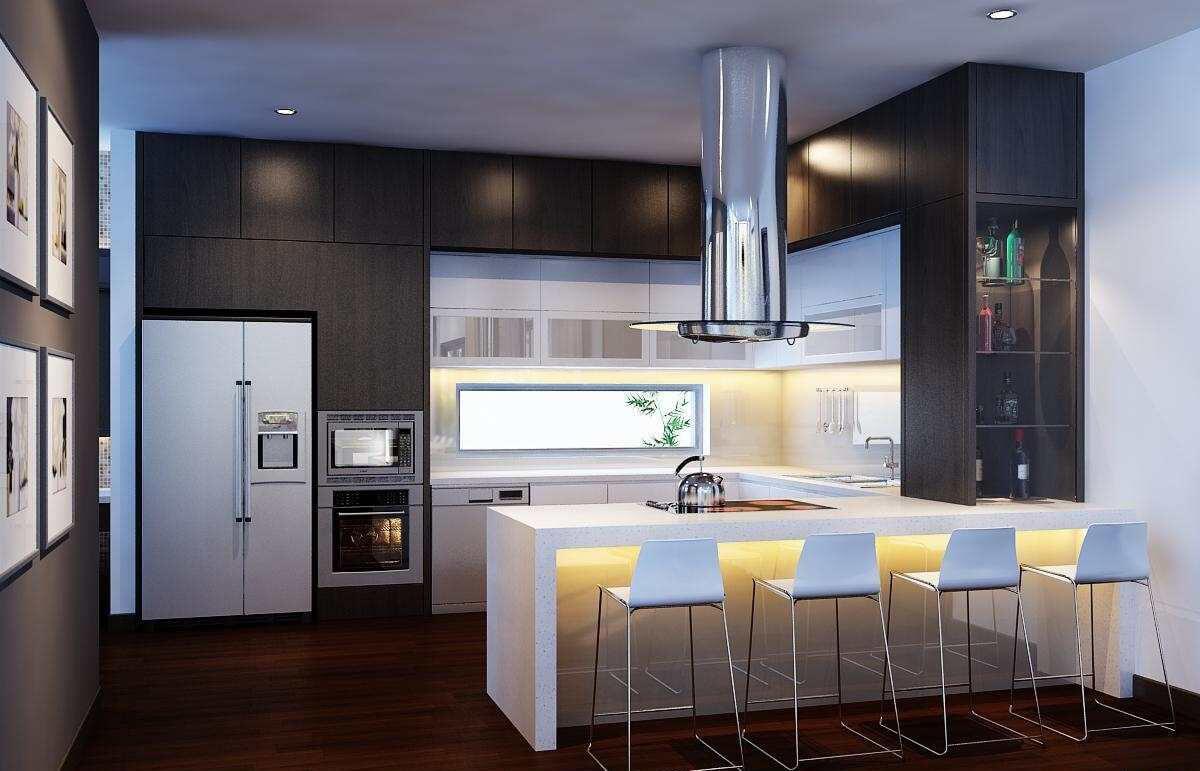 biệt thự 3 tầng 16x20m phòng bếp