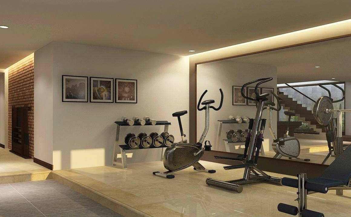 biệt thự 3 tầng 16x20m phòng tập gym