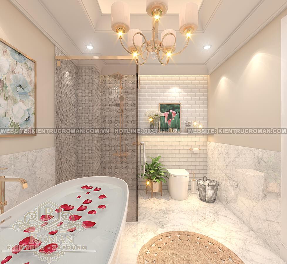 biệt thự 3 tầng 2 mặt tiền phòng tắm