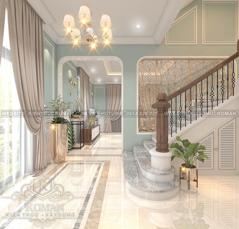 biệt thự 3 tầng 2 mặt tiền phòng khách