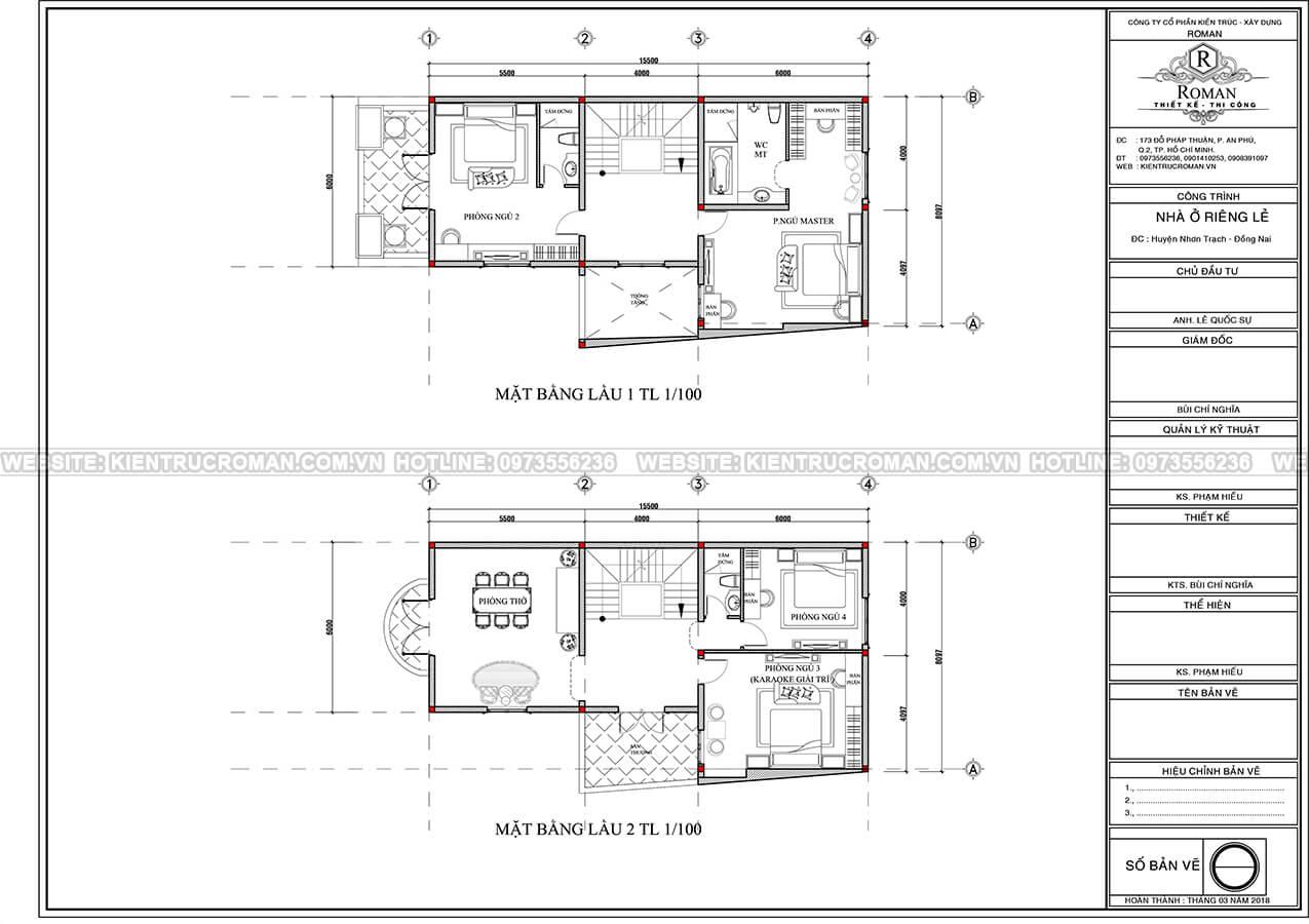 biệt thự 3 tầng 2 mặt tiền 4