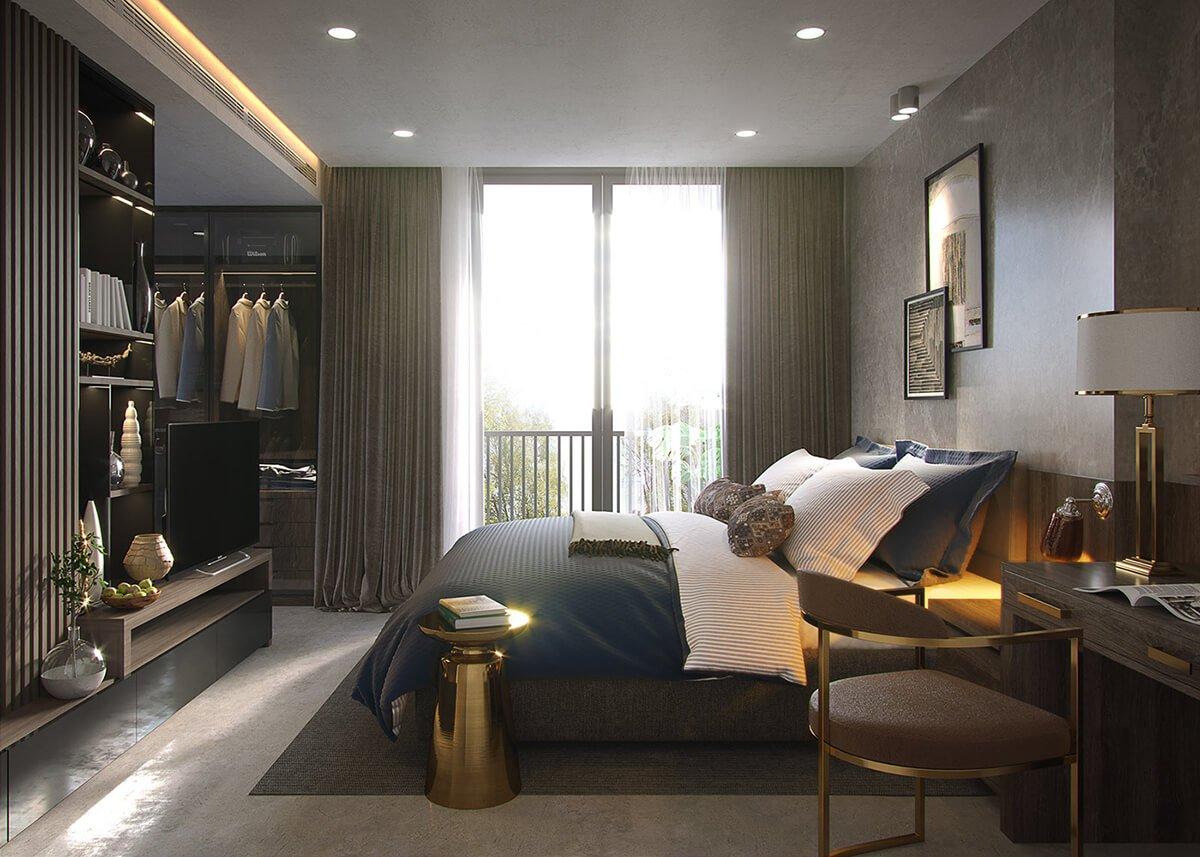 biệt thự 3 tầng 20x25m phòng ngủ