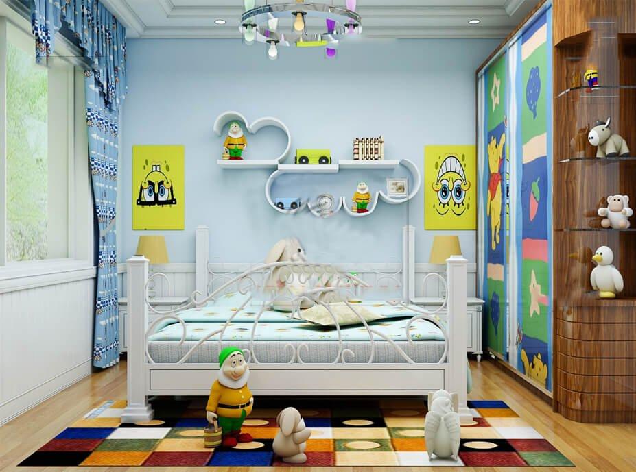 biệt thự 3 tầng 7 phòng ngủ phòng ngủ con trai
