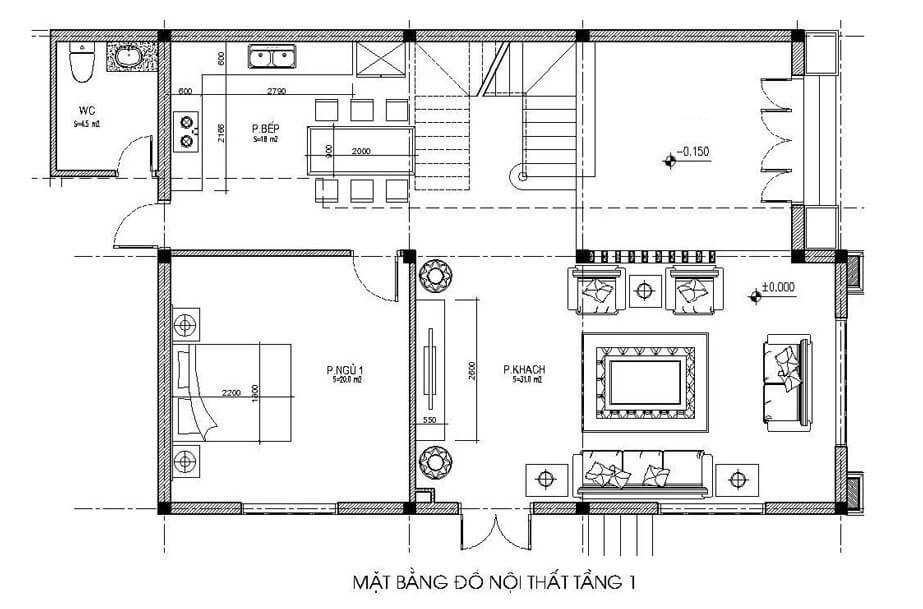 biệt thự 3 tầng 7 phòng ngủ