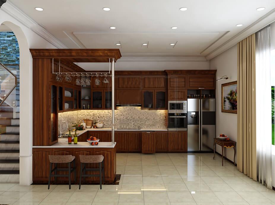 biệt thự 3 tầng 7 phòng ngủ nhà bếp