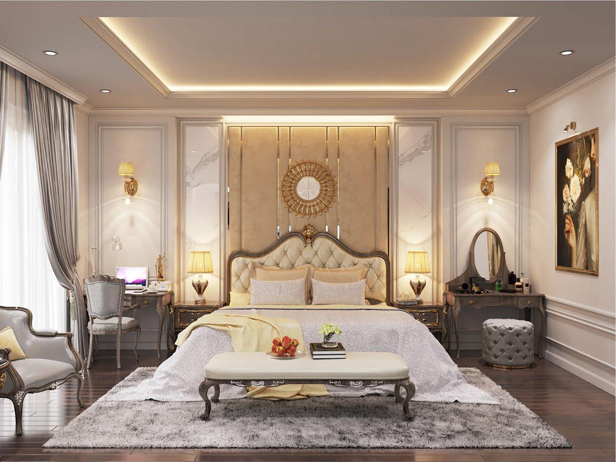 biệt thự 3 tầng 7x18m phòng ngủ master