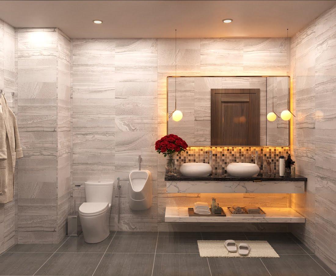 biệt thự 3 tầng 7x18m phòng tắm