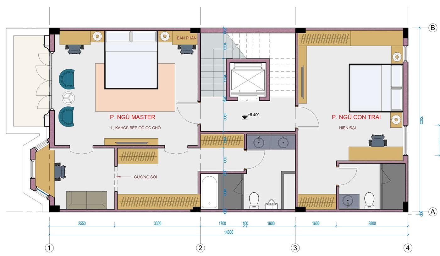 biệt thự 3 tầng 7x18m