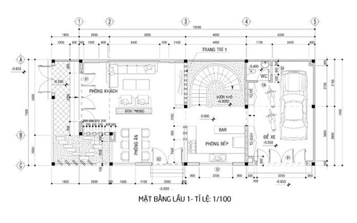 biệt thự 3 tầng 8x15m đẹp 4