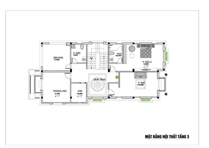 biệt thự 3 tầng 8x20m