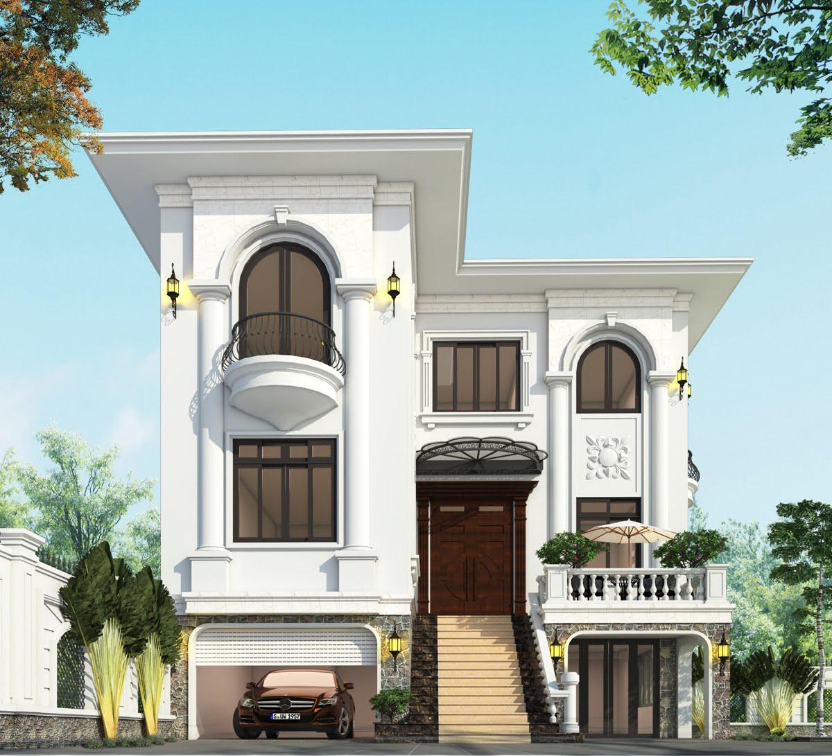 biệt thự 3 tầng 9x12 phong cách tân cổ điển 1