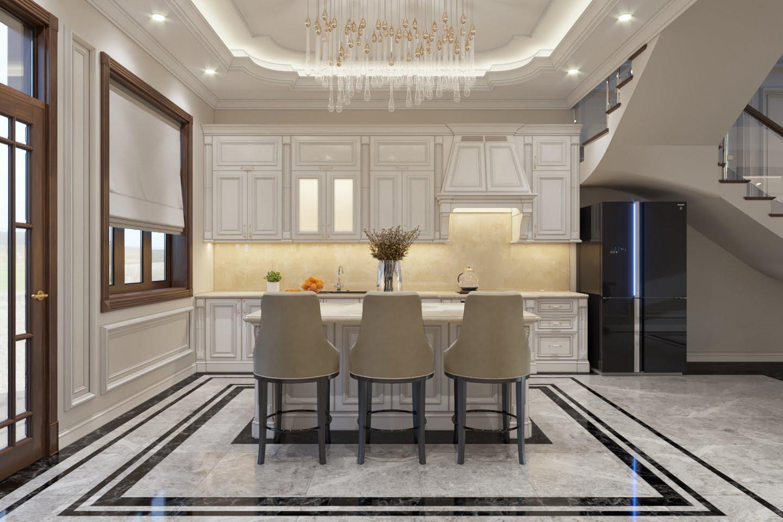 biệt thự 3 tầng 9x12 phong cách tân cổ điển 10