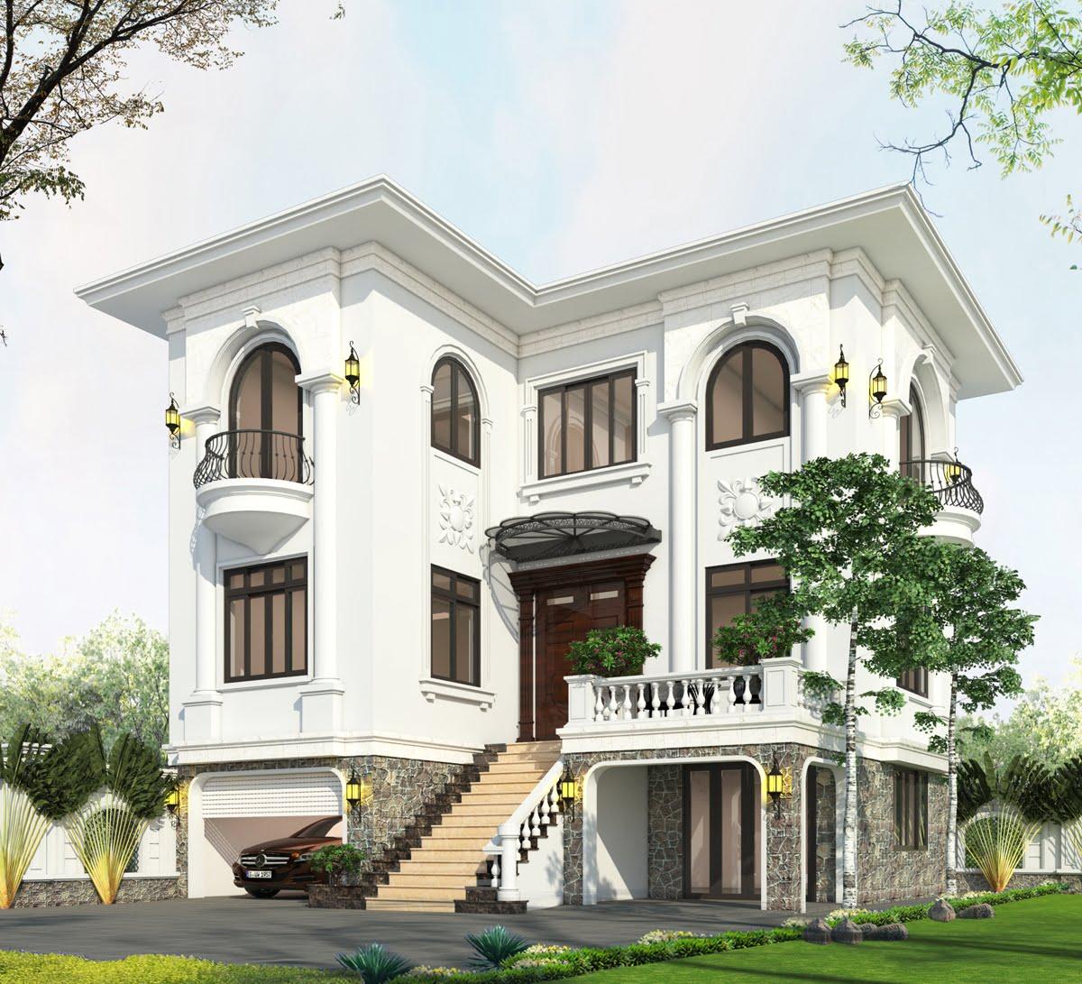 biệt thự 3 tầng 9x12 phong cách tân cổ điển 2