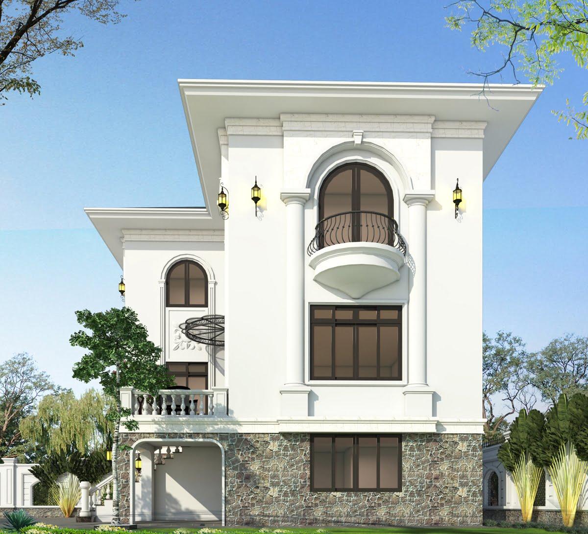 biệt thự 3 tầng 9x12 phong cách tân cổ điển 3
