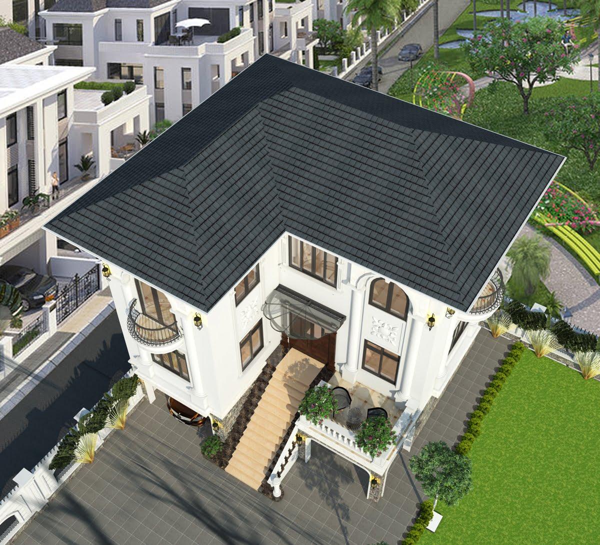 biệt thự 3 tầng 9x12 phong cách tân cổ điển 4
