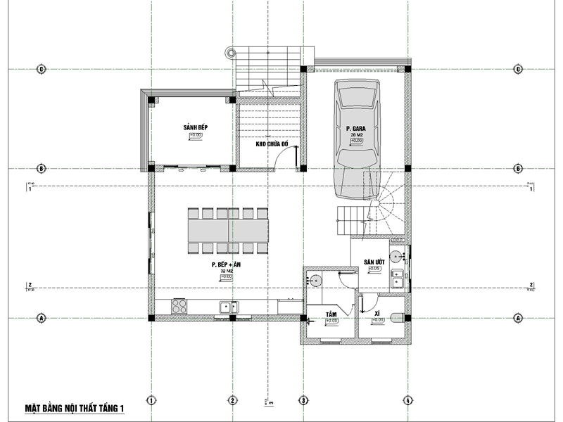 biệt thự 3 tầng 9x12 phong cách tân cổ điển 5