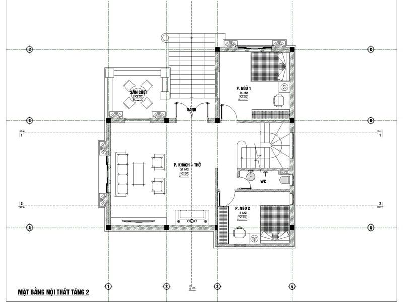 biệt thự 3 tầng 9x12 phong cách tân cổ điển 6