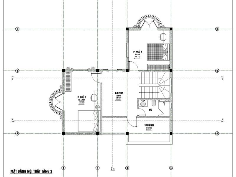 biệt thự 3 tầng 9x12 phong cách tân cổ điển 7